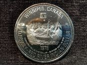 Canada, Winnipeg - Red River Indian Trade Dollar 1978, UNC, AB07